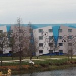 New pics of construction on Disney's Art of Animation Resort – Front signage going up