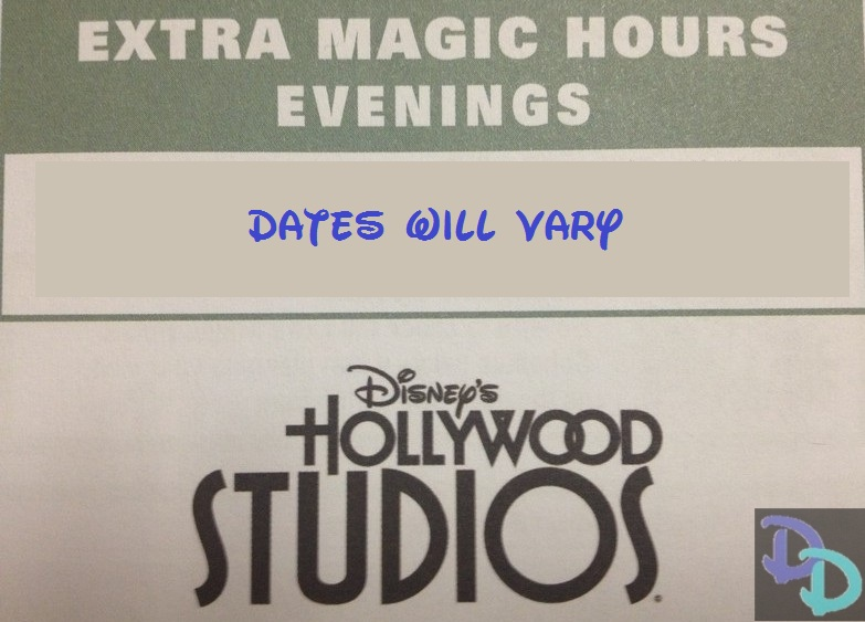 Disney s hollywood studios evening extra magic hours attractions and