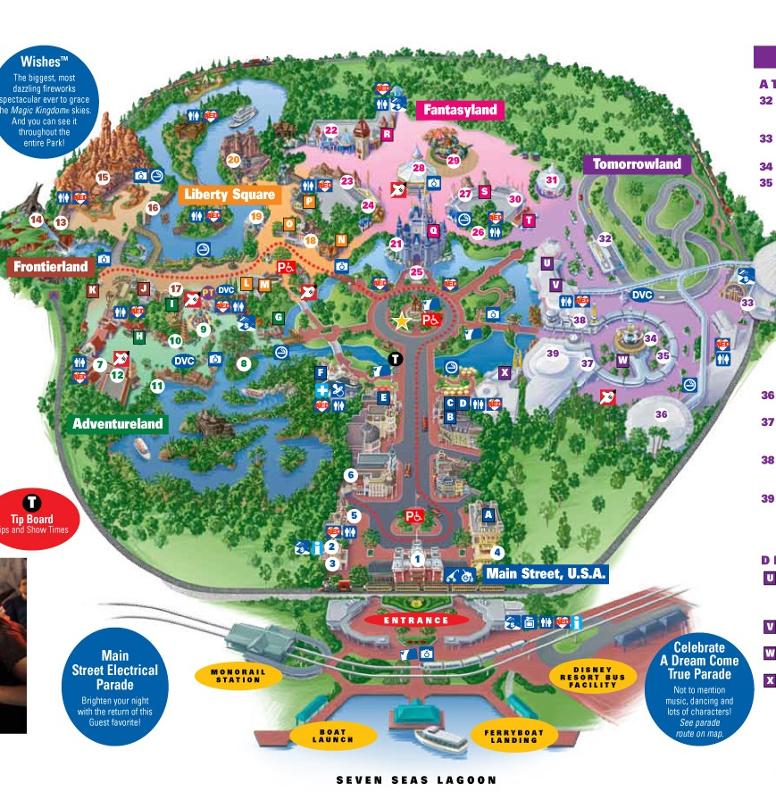 2014 Disney World Magic Kingdom Map