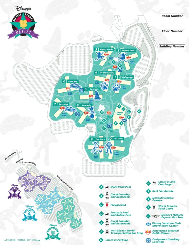 Image Result For Disney World All Star Movies Resort Map