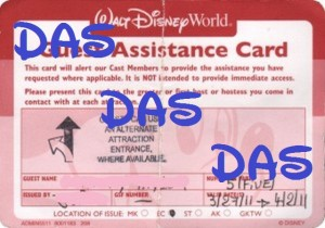 Disney Disabled Assistance System