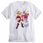 Holiday shirt featuring Figment and Dreamfinder coming to Disney Parks Online Store tomorrow