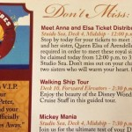 Disney Cruise Line Passing Out Tickets For Anna and Elsa Meet-and-Greet on Disney Ships