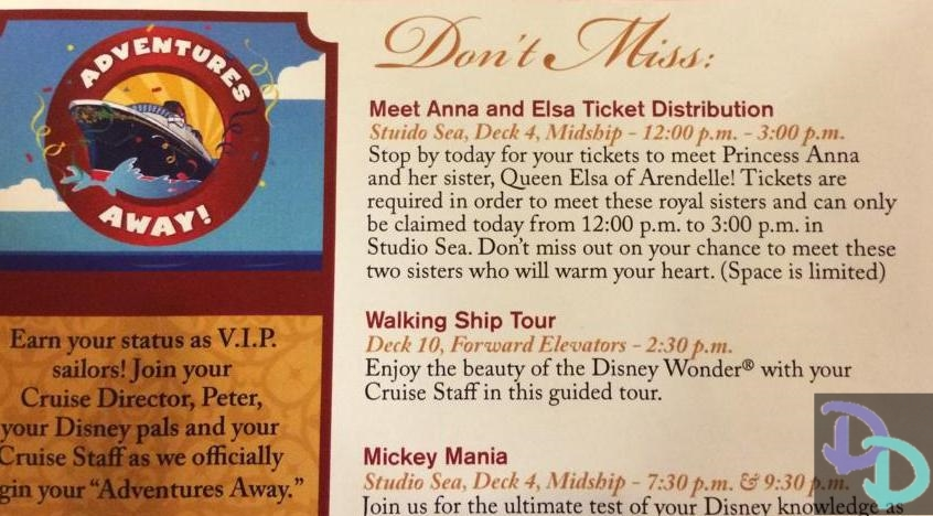 Disney Cruise Line Anna and Elsa