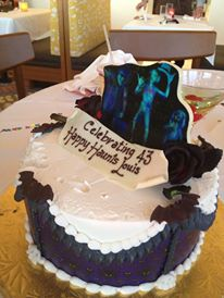 Lous 43rd Birthday Haunted Mansion Cake
