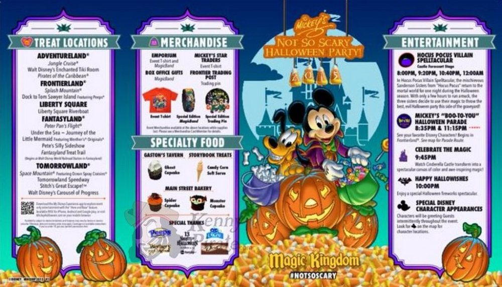 Halloween Eventi 2019.Early Look At Map For Mickey S Not So Scary Halloween Party 2015