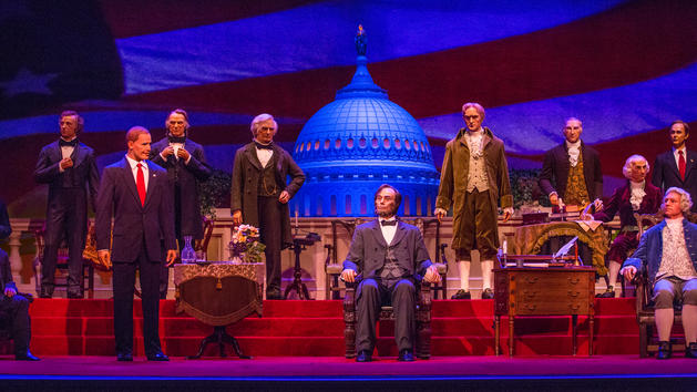 hall of presidents refurbishment 2017 donald trump hillary clinton