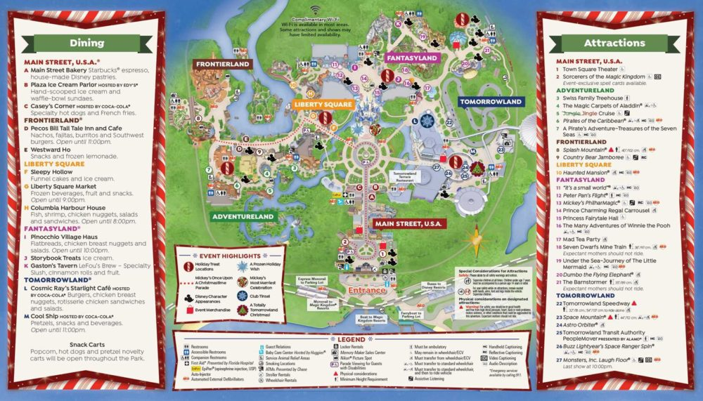 mickey's very merry christmas party 2016 map