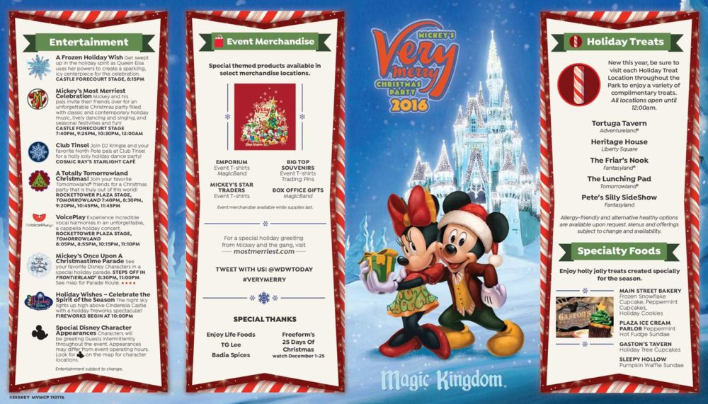 mickeys very merry christmas party 2016 map