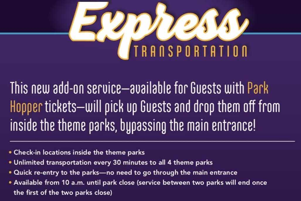 express bus service disney